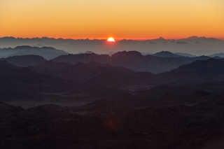 Sunrise or Sunset on Mount Sinai