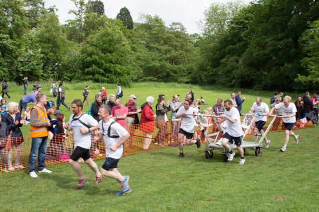 Best time to see Knaresborough Bed Race in England