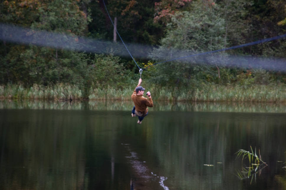 Zip-Line in Kiviõli in Estonia - Best Season