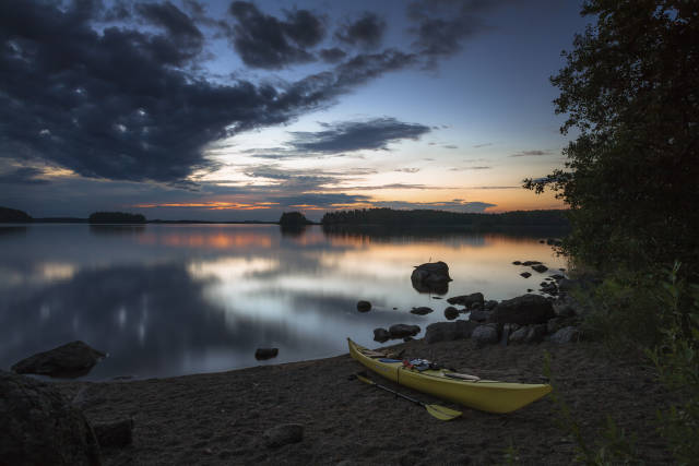 Canoeing in Linnansaari Nationalpark Finland