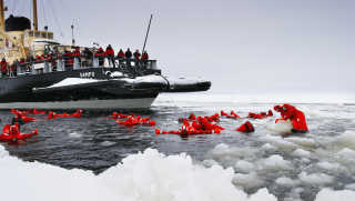 Icebreaker Cruise and Ice Floating