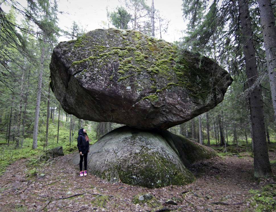 Kummakivi Balancing Rock in Finland - Best Season