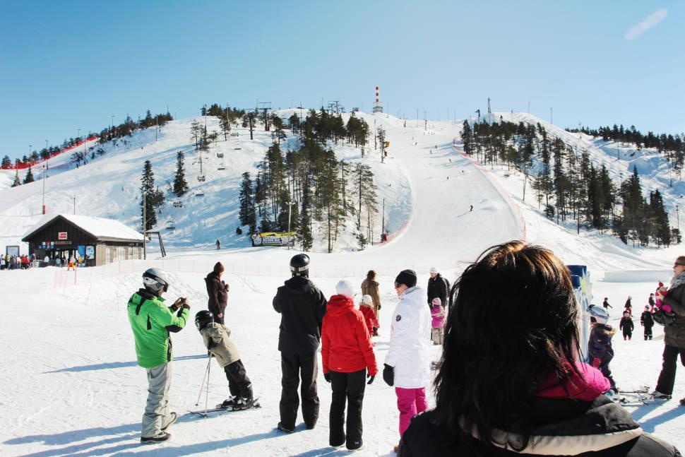 Ski trail in Ruka