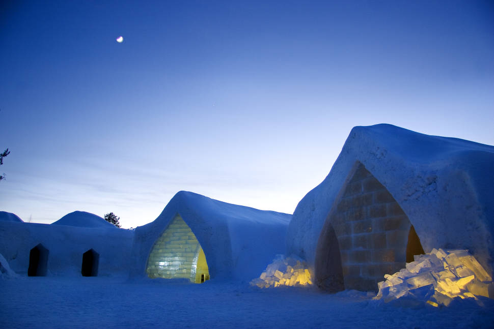 Best time for Snow & Ice Architecture in Finland