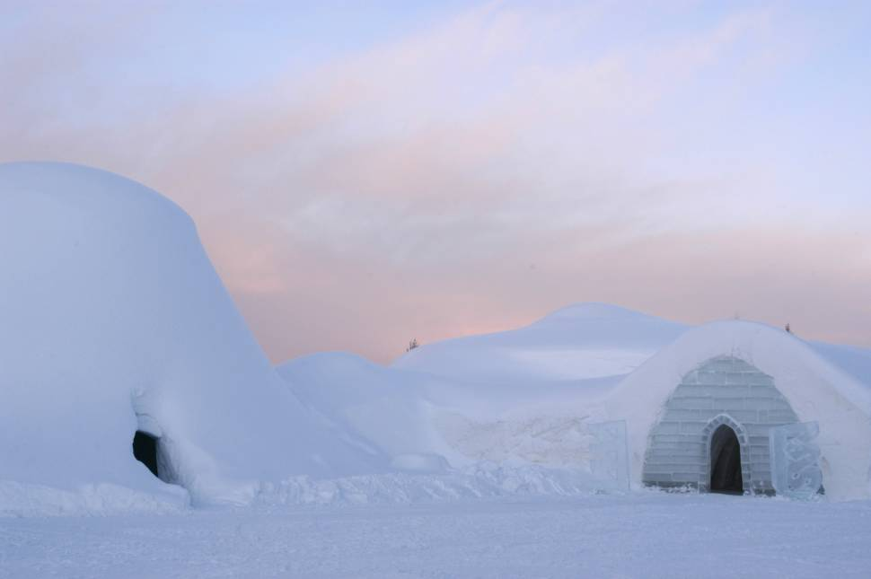 Entrance of the Snow Village in Lainio