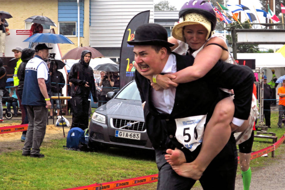 Best time for Wife Carrying World Championships in Finland