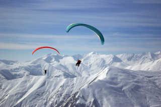 Paragliding Winter Season