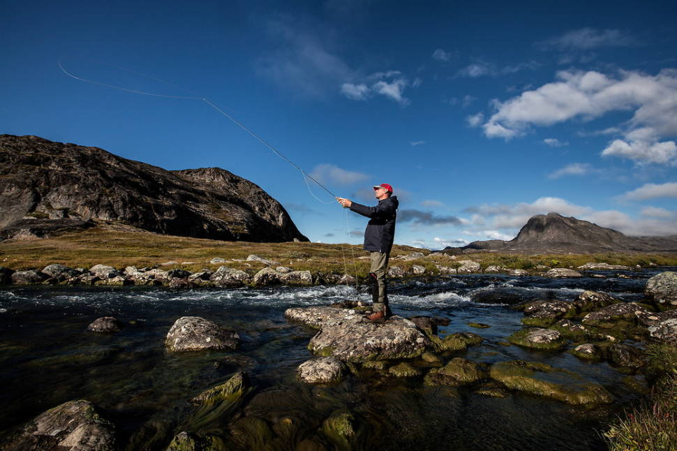 Fly fishing on the lower Erfalik river