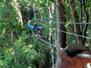 Ziplining on Roatán