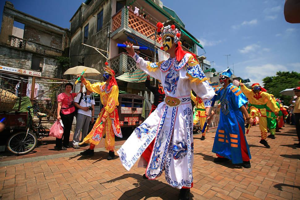 Mask Dancers on Parade