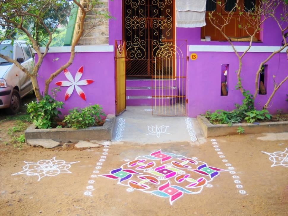 A house in Kanchipuram during Pongal festival