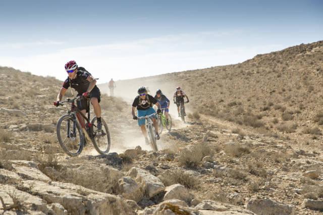 Bike riding in Negev–Arava region