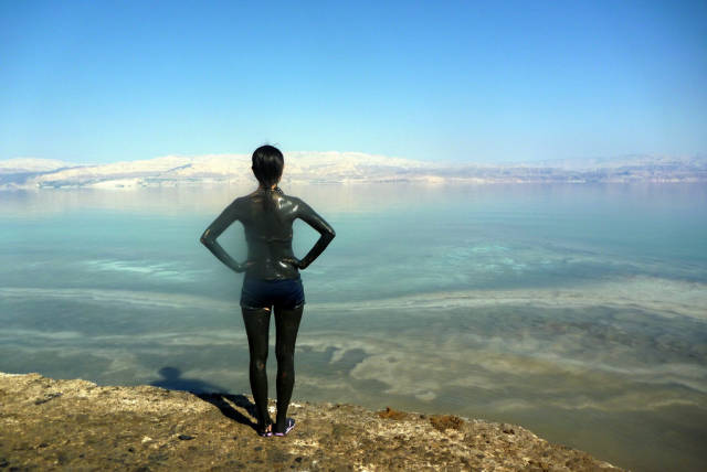 Many people believe that the mud of the Dead Sea has special healing and cosmetic uses.