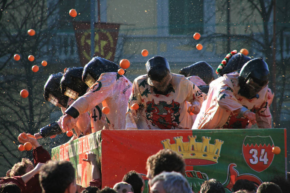 Ivrea Battle of the Oranges in Italy - Best Time