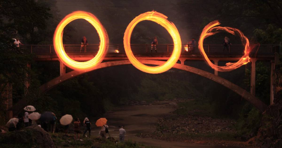 Ohinata no Hitoboshi or Fire Ring Festival in Japan - Best Time