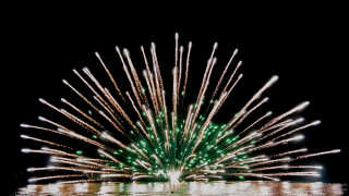 Fireworks on Lake Toyako