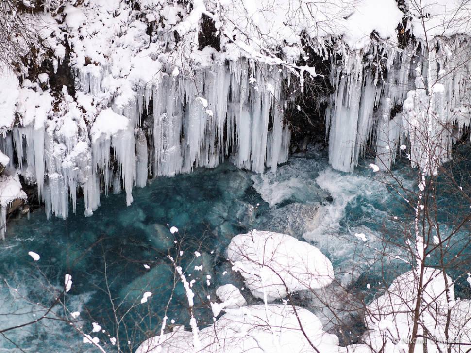 Blue River at Shirogane Onsen (Hot Spring), Biei, Hokkaido