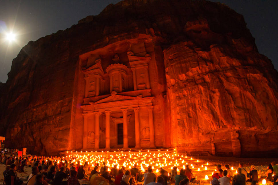 """Khazneh"" Petra by night, Jordan"