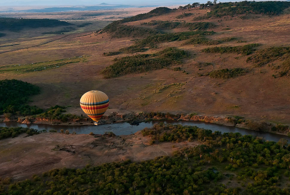 Early morning ballooning over the Masai Mara, Kenya