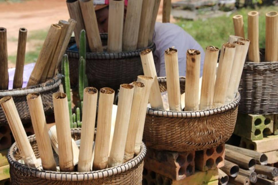 Khao Lam Rice in Bamboo in Laos - Best Season