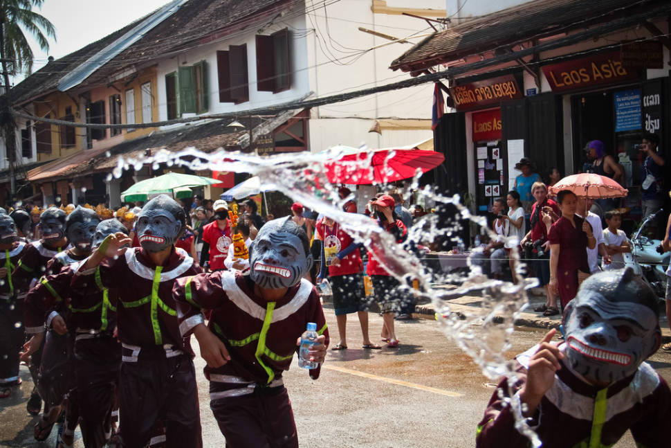 Best time to see Pi Mai Lao or Lao New Year in Laos