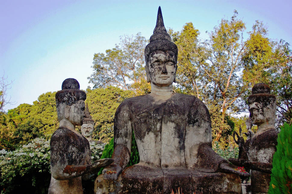 Best time to see Xieng Khuan or Buddha Park in Laos