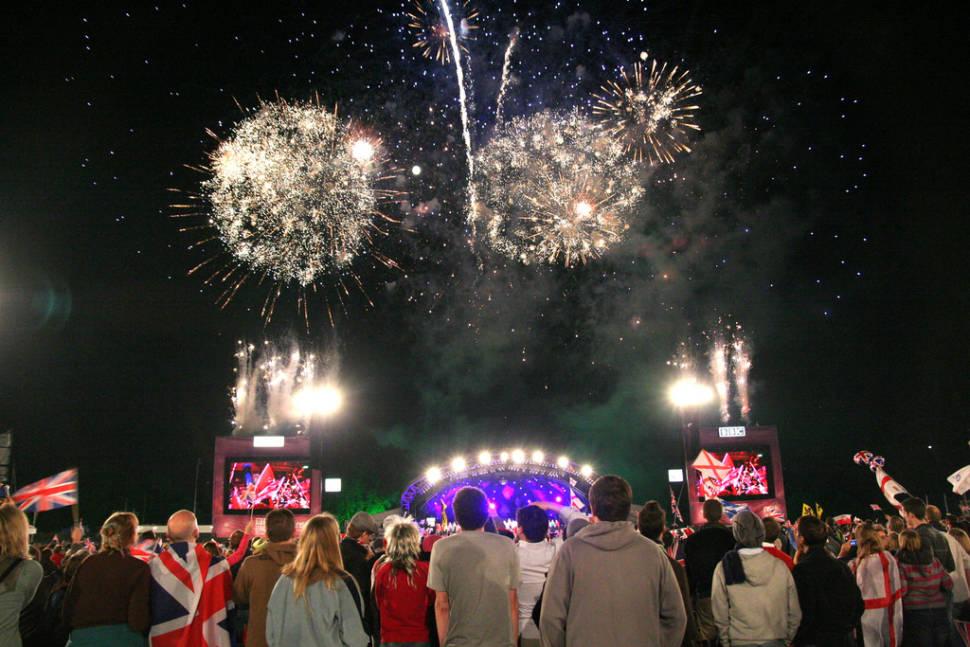 Last night fireworks