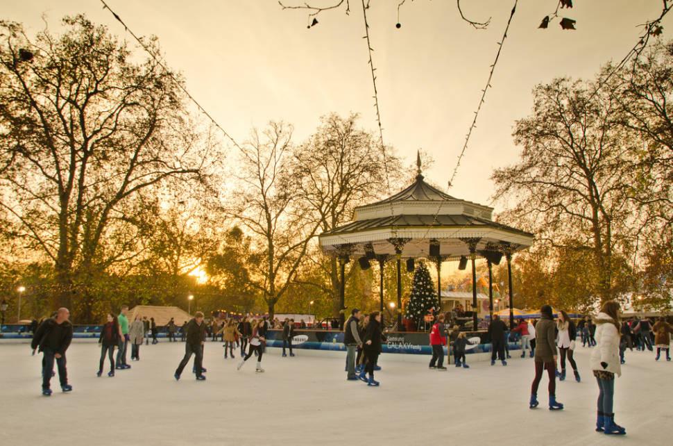 Winter Wonderland's Ice Rink in Hyde Park