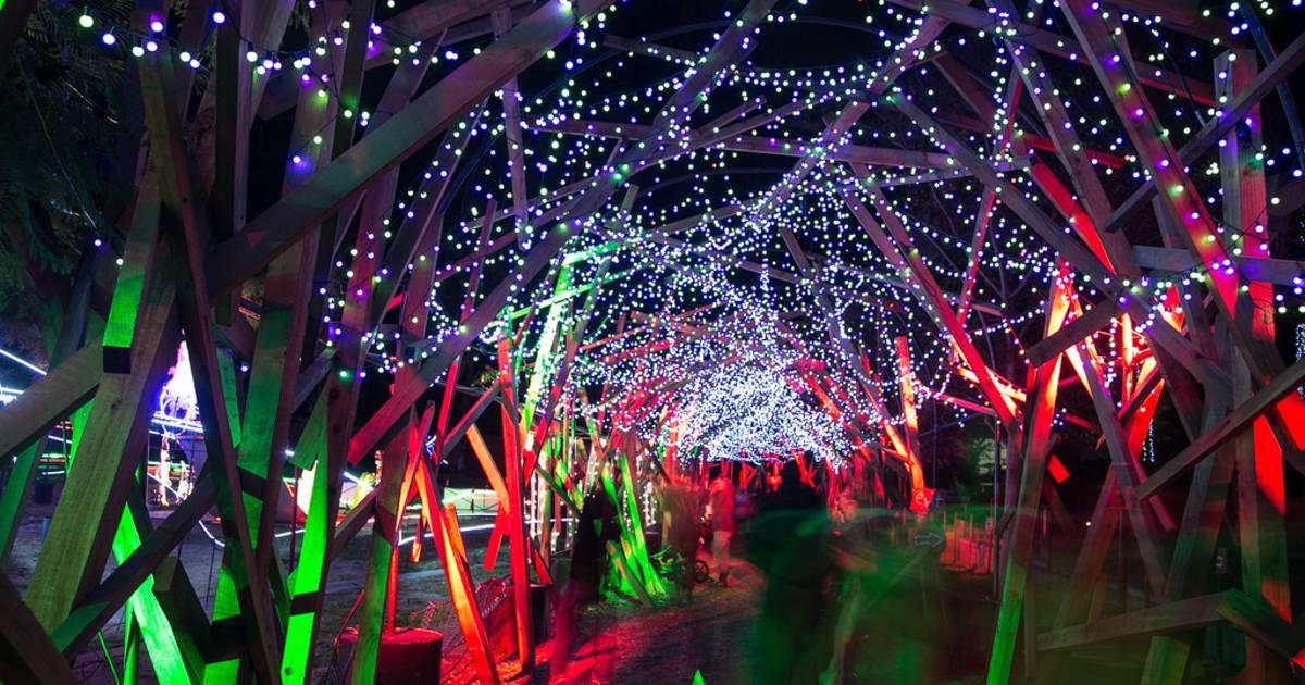la zoo lights 2018 in los angeles dates map