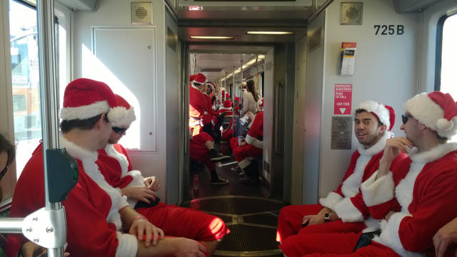 Best time for SantaCon  in Los Angeles