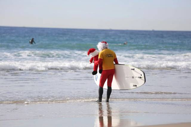 Best time for Surfing Santa Competition in Los Angeles