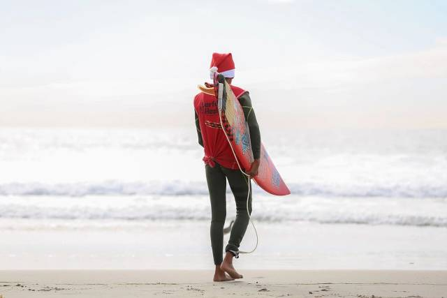 Surfing Santa Competition in Los Angeles - Best Season