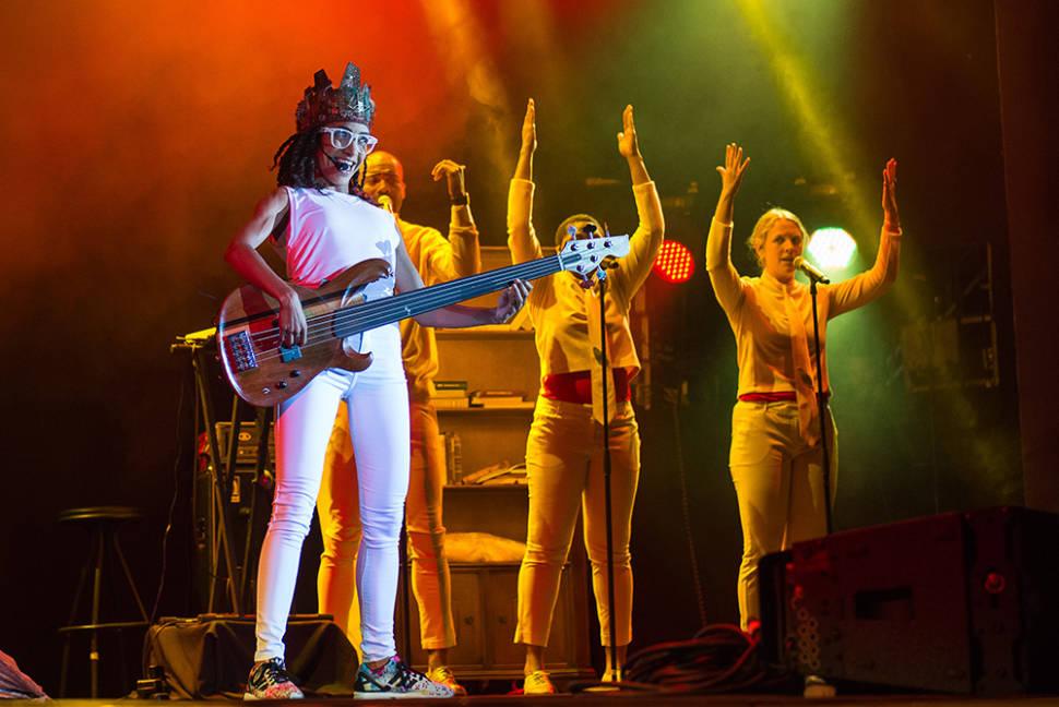 Esperanza Spalding performance, summer 2016
