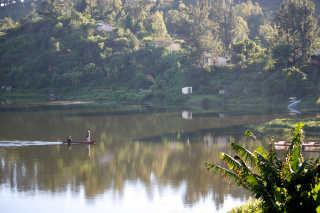 Fishing at Lake Itasy