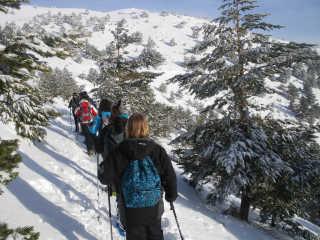 Snowshoeing in Sierra de Guadarrama