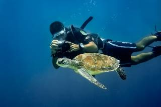 Diving near Borneo Island