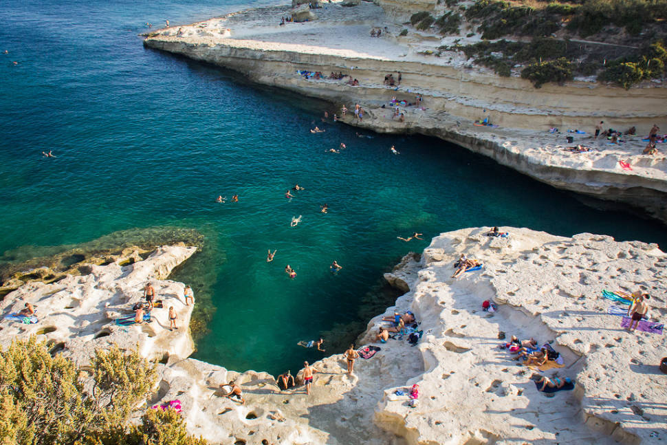 Swimming at Saint Peter's Pool in Malta - Best Time