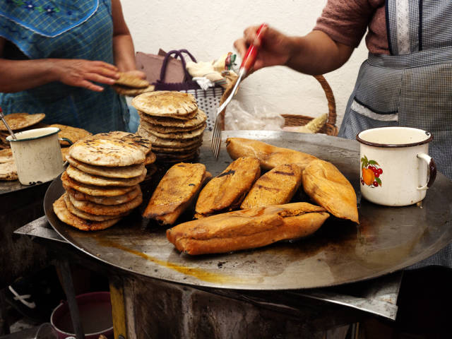 Tamales in Tequisquiapan, Mexico