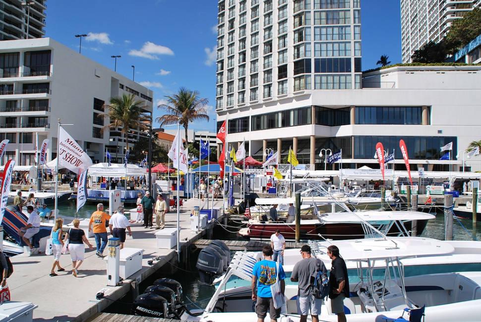 Miami Boat Show at Sea Isle Marina