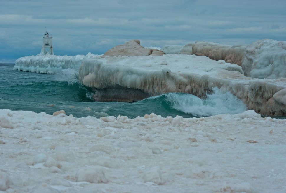 Pictured Rocks Winter Hike in Midwest - Best Season