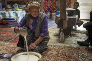 Arkhi or Mongolian Milk Wine