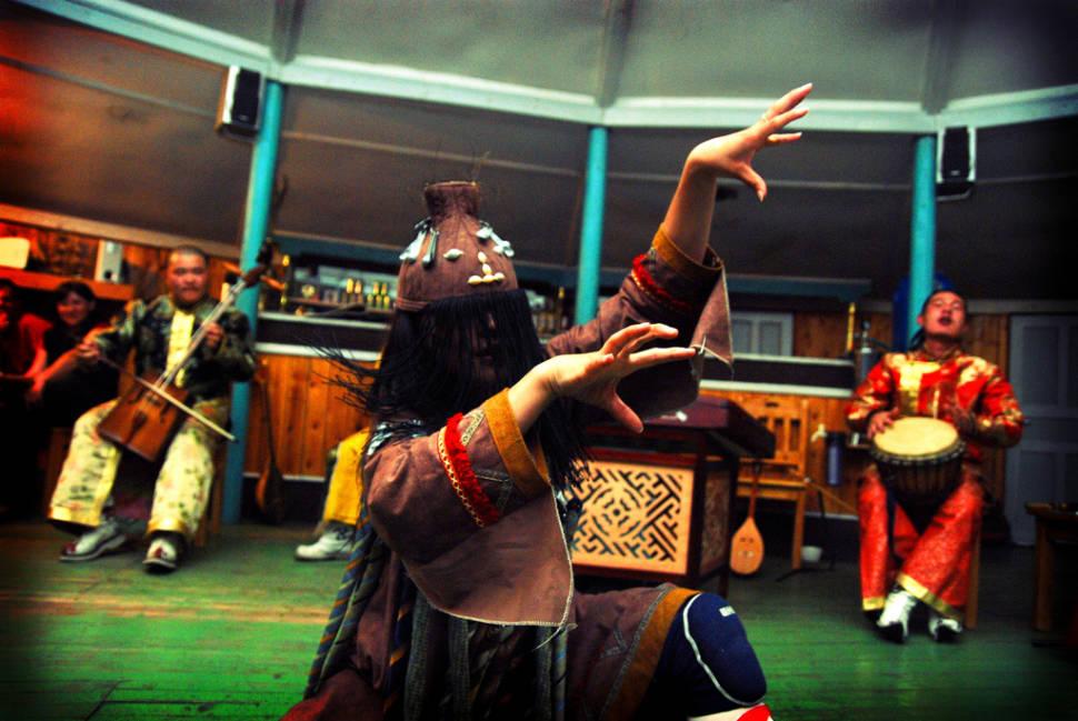 Traditional Mongolian music performance