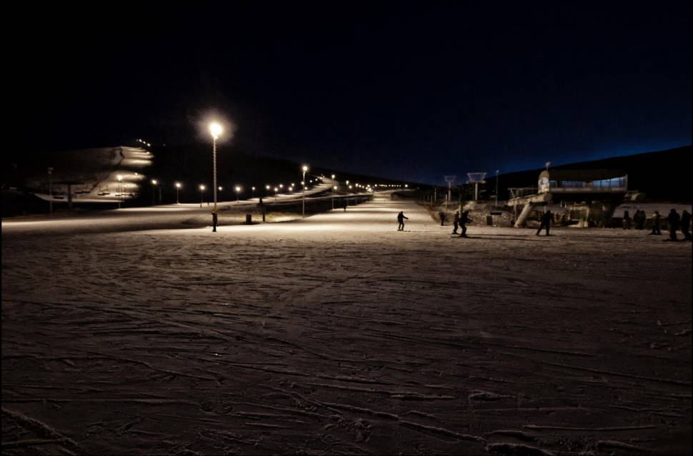 """Sky Resort at night. """"I like the night ski, as the lift ride under the cold Mongolian stars is so very peaceful."""""""