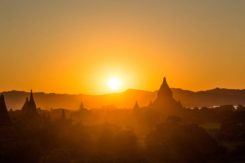 Sunset over Old Bagan
