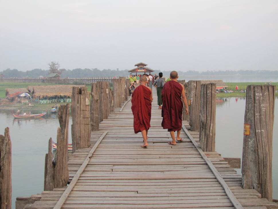 U Bein Bridge in Myanmar - Best Season