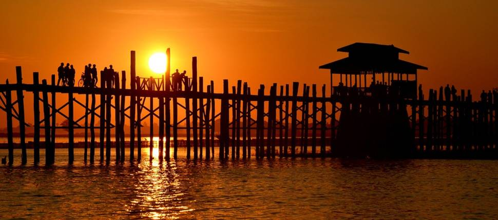 U Bein Bridge in Myanmar - Best Time
