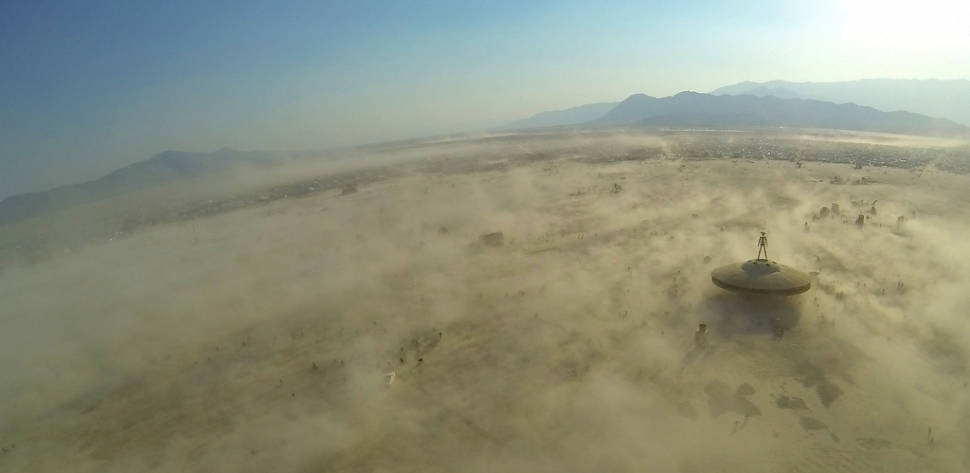 Burning Man from the end of 1000 feet of kite line