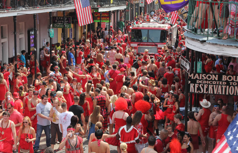Red Dress Run in New Orleans - Best Time