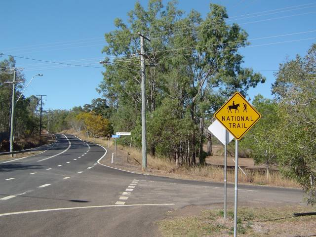 Pine Mountain Road and Bicentennial National Trail at Pine Mountain, City of Ipswich, Queensland, Australia