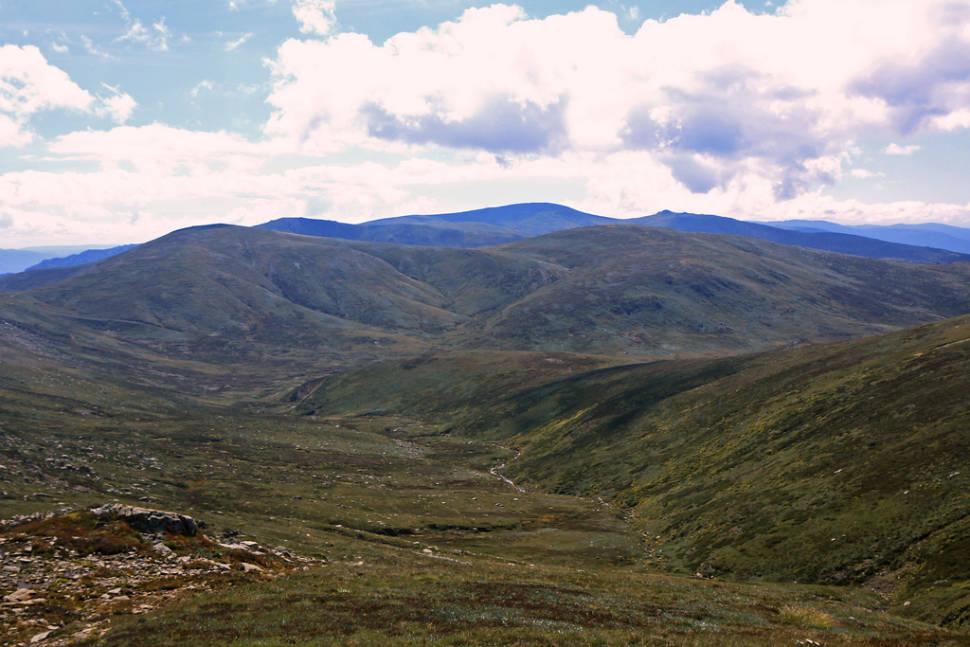 View from top of Mt Kosciuzsko